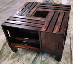 Crate Coffee Table by WagnerRefinishing on Etsy Diy Storage, Coffee Tables, Ideas Para, Crates, Outdoors, Gallery, Furniture, Etsy, Home Decor