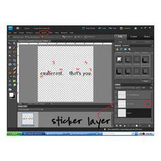 How to make a sticker from word art by Liz Jutila