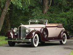 1934 Packard Super Eight Convertible Victoria.