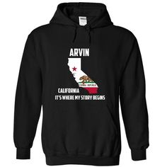 Arvin Its Where My Story Begins Special Tee 2014-2015 - #unique gift #funny shirt. BUY TODAY AND SAVE  => https://www.sunfrog.com/States/Arvin-Its-Where-My-Story-Begins-Special-Tee-2014-2015-7281-Black-8117015-Hoodie.html?id=60505