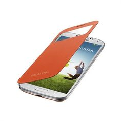 Orange Samsung Galaxy S4 S View cover