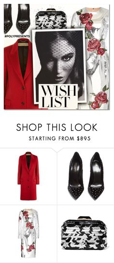 """""""#PolyPresents: Wish List XII"""" by vampirella24 ❤ liked on Polyvore featuring Burberry, Yves Saint Laurent, Dolce&Gabbana and Jimmy Choo"""