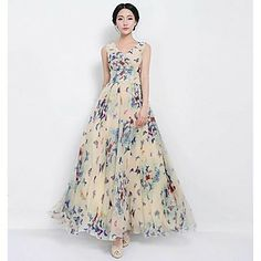 Women's  Fashion  Big  Pendulum  Vest  Maxi  Dress – GBP £ 19.04