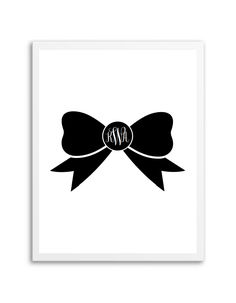 Download and print this free bow monogram maker. Just download, edit and print to make your own monogram!