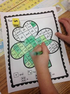 """These Shamrock """"Roll, Read, and Color"""" printables are a snap to put to use in your classroom! They can be used for Morning Work, Word Work Centers, Homework, etc…  These are ready to print and go! Simply, print, add a number cube and crayons, and your kiddos are ready to go!  Since these printables all follow the same predictable format, you can introduce and once your students master the concept, they will find success while practicing essential sight words without further instruction time!"""