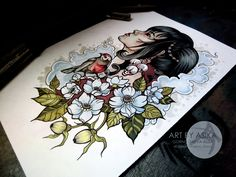 Traditional tattoo flash. by AsikaArt on DeviantArt
