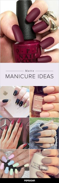 Get inspired by these magnificent matte manicures, and then learn how to make your own matte lacquer.