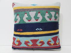 green kilim pillow indie textile red by DECOLICKILIMPILLOWS