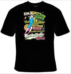 IM A SLAM DUNKIN FAST DRIBBLIN FREE THROW MAKIN NOTHIN BUT NET BASKETBALL GIRL   100% Cotton t-shirt - Image is 8.5 X 11 - I made it look larger so you can have a easier time reading what it says and how it will look on your shirt. The brands i normally use are either Fruit of the Loom or Hanes. I do purchase the boys t shirts as they have a looser fit and seem to be more comfortable. If you are familiar with these brands and know how they fit then you will need to order your size…
