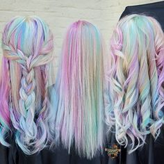Pastel Hair: 5 Ways to Choose a Soft Color For Summer Pastel Hair Color Trend 2016 Cute Hair Colors, Hair Dye Colors, Cool Hair Color, Cool Hair Dyed, Pastel Hair Colors, Hair Color Trend, Beautiful Hair Color, Soft Colors, Pastel Rainbow Hair