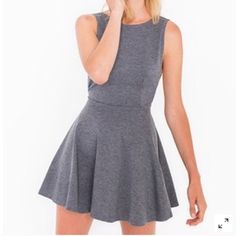 Cute AA Dress BLACK Black and shows the back :) super cute and super new!!! OBO American Apparel Dresses