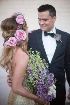 #flower-crown  Photography: Elizabeth McDonnell Photography - elizabethmcdonnellphotography.com  Read More: http://www.stylemepretty.com/2014/10/23/golden-bohemian-affair-in-arizona/