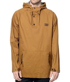 Dravus Timber Tobacco Twill Anorak Jacket