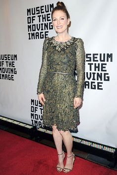 Museum of The Moving Image Event Honouring Julianne Moore, New York - January 20 2015 - Wearing a Chanel Couture dress. #celebrities #actresses #Influencers