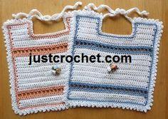 Free baby crochet pattern for bib www.justcrochet.com/justcrochet-site8_059.htm #justcrochet #freecrochetpatterns