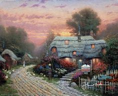 Thomas Kinkade - 	  Olde Porterfield Tea Room  1991