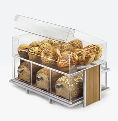Eco Modern Merchandiser Item: 1471-SET, 1471, 1478, and 1479. When it comes to catering and buffet service, we've got you covered. This merchandiser offers four different compartments that are able to store breads and bagels. http://www.calmil.com/index.php?page=shop.product_details&flypage=flypage.tpl&category_id=20&product_id=329&option=com_virtuemart&Itemid=61#sthash.4IIsNfeb.dpuf