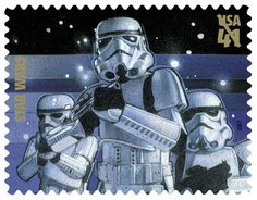 Stamp by Stampstar wars troopers stampsyoda USPS stamps message