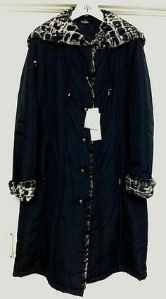 NEW DAVID BARRY Ladies Premium Quality Full Length Black Coat Fuax Fur Trim UK12 Sun Protection Hat, Two Ladies, Black Wool Coat, Fur Trim, Hemline, Nike Jacket, Size 12, David, Lady
