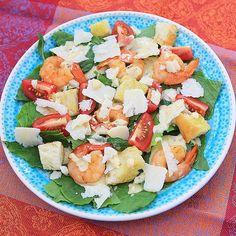 А сегодня у нас на #ужин #цезарь с креветками#салат #креветки #сыр #пармезан #томаты #ромен #соус #caesar #salad #tomato #cheese