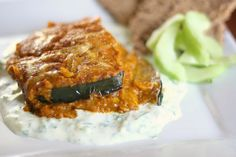 Eggplant Curry with Cilantro-Yogurt Sauce by Perry's Plate, via Flickr
