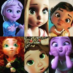"""Mi piace"": 4,187, commenti: 56 - PassionDisney (@disneywordmylove) su Instagram: ""Baby Princesses (My collage)  #elsaeanna #elsadisney #elsa #anna #annadisney #olaf #olaf⛄…"""