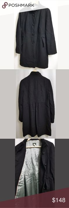 """J.Crew Black Wool Lined Pea Coat Jacket sz 12 This is a J.Crew Black Wool Lined Pea Coat Jacket sz 12 Womens Peacoat. There are no stains, snags, or holes.  Measurements: (When laid flat) Armpit to armpit: 19"""" Around chest: 38"""" Top of shoulder to bottom: 37""""  Product material: Wool blend  Inventory #: Green Rubbermaid J. Crew Jackets & Coats Pea Coats"""
