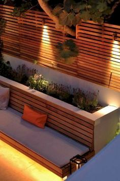 Backyard seating wall outdoor benches 44 Ideas for 2019 Privacy Landscaping, Backyard Privacy, Backyard Fences, Modern Landscaping, Landscaping Design, Garden Landscaping, Backyard Seating, Garden Seating, Outdoor Seating