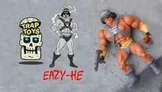 Oh boy, the wait is nearly over. The UK based bootleg supremo's at Trap Toys are ready to release Easy Mutherfunkin Easy-He! admittedly not much of a bootleg figure collector, this EASY-HE will be a must. If Easy-E was alive we're sure he would freaking love one. Classic combo for Rap nutts and Masters of the Universe. Trap Toys guarantee no sterious have been used while making these Easy-HE figures. Trap Toys are working with illustrator Daniel Evans for the art work so expect the backing…