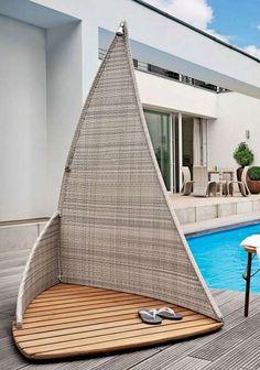 Semi-private outdoor shower