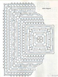 Transcendent Crochet a Solid Granny Square Ideas. Inconceivable Crochet a Solid Granny Square Ideas. Crochet Mandala Pattern, Granny Square Crochet Pattern, Crochet Stitches Patterns, Crochet Chart, Crochet Squares, Stitch Patterns, Free Crochet, Crochet Coaster Pattern, Crochet Round