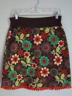 This one is on my wish list... Miss Magoo skirts - corduroy flower garden poms 52 by do you magoo?, via Flickr