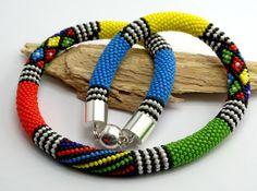Beadwork Necklace by Artlando on Etsy
