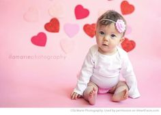 Valentines Day Photography Inspiration - Baby Portrait by Ila Marie Photography via iHeartFaces.com