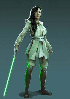 Star Wars Concept Art, Star Wars Fan Art, Star Wars Rpg, Star Wars Jedi, Jedi Cosplay, Jedi Costume, Jedi Armor, Female Jedi, Star Wars Characters Pictures
