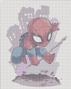Spider Man Geek Cross Stitch, Cross Stitch Bookmarks, Cross Stitch Baby, Cross Stitch Patterns, Knitting Patterns, Crochet Patterns, Cross Stitching, Cross Stitch Embroidery, C2c