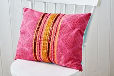 Make this gorgeous cushion decorated using Indian printing blocks in our May 2015 issue, available now!