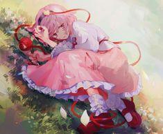 Touhou Project- Satori Komeiji artwork by kaxz Kawaii Anime, Kawaii Chibi, Manga Girl, Anime Art Girl, Anime Girls, Beautiful Anime Girl, Cute Images, Anime Demon, All Anime