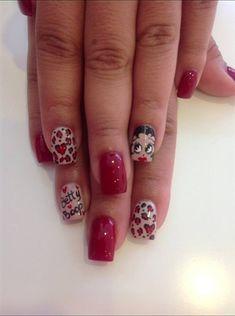 Betty Boop by Ettennae - Nail Art Gallery nailartgallery.nailsmag.com by Nails Magazine www.nailsmag.com #nailart