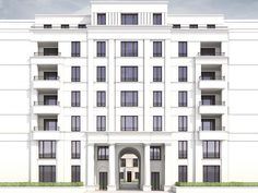 LeFlair 02 New Classical Architecture, Landscape Architecture Drawing, Architecture Building Design, Commercial Architecture, Building Facade, Facade Design, Multi Storey Building, Brick Arch, Condo Design