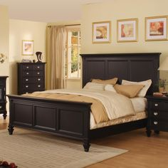 Holland House Summer Breeze Queen Panel Bed - Item Number: 494-+21H+21F+21R