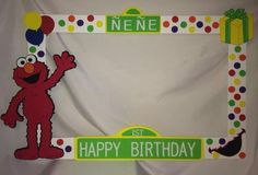Picture Frames For Parties, Party Photo Frame, Birthday Photo Frame, Photo Frame Prop, Birthday Frames, Birthday Photos, Elmo Birthday, Boy Birthday Parties, Girl Birthday