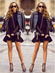 How to Chic: GET THE BLOGGERS STYLE - KENZA - RUFFLE BLACK DRESS
