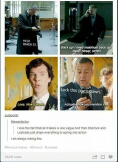 I suppose he'd have to learn to read Sherlock's vague texts out of necessity after years of working with him.
