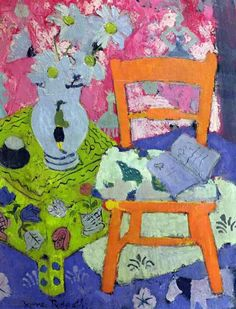 Anne Redpath (Scotland 1895-1965) Still life, The Orange Chair oil on board 73.7 x 53.5 cm The Fleming Collection. London