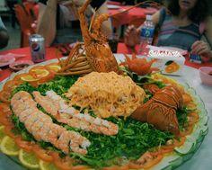 Lobster salad for starter at Pasir Putih Seafood Sandakan. Super delicious