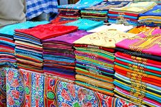 Colorful shirts in Cairo Market