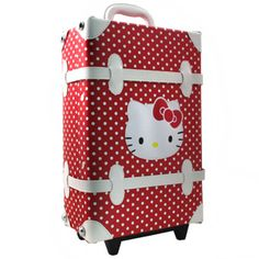 Hello Kitty Luggage for the young or young at heart! #luggage #HelloKitty