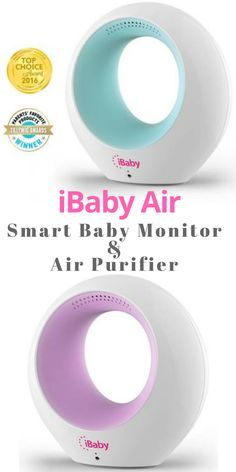This is so cool! I want this for the next baby. iBaby Air is a smart baby monitor and air purifier that detects temperature, humidity, and harmful compounds to keep baby\'s air safe to breathe. Alerts for air quality and when baby starts to stir are sent to your phone. This is a must have for baby registry or baby shower gift. #affiliate #babyshowerideas #newbaby #babyshowergifts