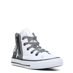 5aebb6476f9a62 Converse Kids  Chuck Taylor All Star Sport Zip High Top Sneakers  (White Black. FamousFootwear.com